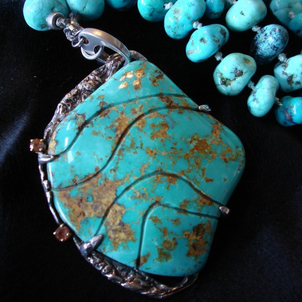 Turquoise Sky- pendant